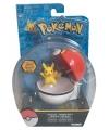 Speelgoed pokeball met pikachu 6 cm