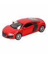 Speelgoed rode audi r8 auto 1 36