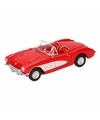 Speelgoed rode chevrolet corvette cabrio 12 cm