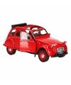 Speelgoed rode citroen 2cv auto cabrio 1 36