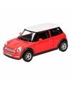 Speelgoed rode mini cooper auto 12 cm
