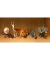 Speelgoed set grote plastic safari dieren 5 stuks