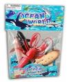 Speelgoed set plastic oceaan dieren 5 stuks