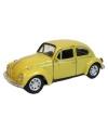 Speelgoed volkswagen kever gele auto 12 cm