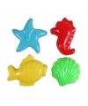 Speelgoed zandvormen strand 4 stuks