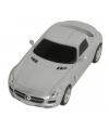 Speelgoed zilveren mercedes sls auto 16 cm