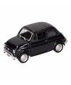 Speelgoed zwarte fiat 500 classic auto 1 36