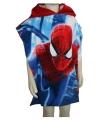 Spiderman badcape blauw met rood