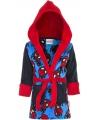 Spiderman badjas zwart blauw