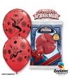 Spiderman ballonnen 6 stuks