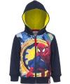 Spiderman capuchon vest blauw