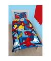 Spiderman dekbedovertrek set jongens blauw 140 x 200 cm