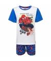 Spiderman korte pyjama wit blauw voor jongens