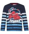 Spiderman t shirt blauw gestreept voor jongens