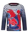 Spiderman t shirt blauw gestreept