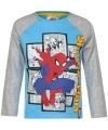 Spiderman t shirt blauw grijs voor jongens