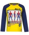 Spiderman t shirt geel blauw voor jongens