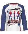 Spiderman t shirt wit blauw voor jongens