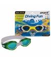 Sport zwembril geel voor kinderen 3 8 jaar