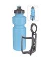 Sportfles met houder blauw 750 ml
