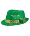 St patricks day groen glitter hoedje