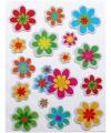 Stickers bloemen 16 stuks
