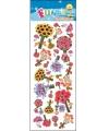 Stickervel bloem boeketten
