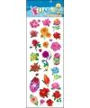 Stickervel bloemen