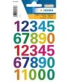 Stickervel cijfers gekleurd