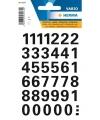Stickervel cijfers zwart 15 mm 36x
