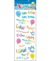 Stickervel happy birthday