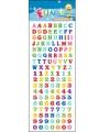 Stickervel letters en cijfers