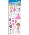Stickervel meisjes dress up doll
