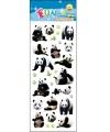 Stickervel pandaberen