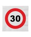 Stopbord servetten 30 jaar