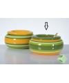 Stormasbak groen met geel 23 cm