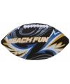 Strand rugbybal zwart 27 cm