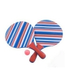 Strand tennisset paars gestreept