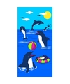 Strandlaken dolphin game 70 x 140 cm