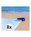 Strandlaken klemmen blauw 8 stuks