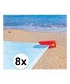 Strandlaken klemmen rood 8 stuks