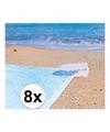 Strandlaken klemmen wit 8 stuks