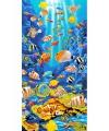 Strandlaken tropische vissen 75 x 150 cm