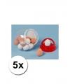 Stuiterende nep eieren 5 stuks