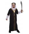 Sultan kostuum zwart voor kinderen