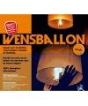 Super voordelige wensballon oranje