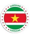 Suriname sticker rond 14 8 cm