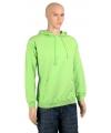 Sweater met capuchon lime