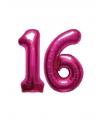 Sweet 16 folie ballonnen roze