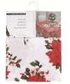 Tafelkleed wit met kerstster 130 x 80 cm